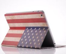 Retro Flag stand leather case pouch for ipad mini 2
