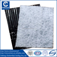 aluminium foil self adhesive rubber waterproof roll/roofing sheet