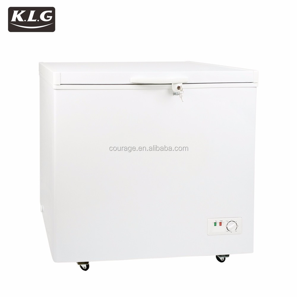 208L electric home <strong>appliance</strong> glass door chest mini freezer 12v home refrigerator