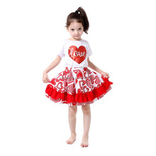 baby girls red fairy tales fancy homecoming dress baby skirts