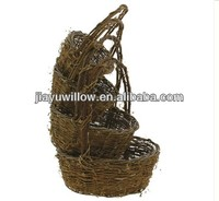 Chinese Shopping Baskets Fruit wicker/willow handle baskets