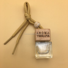 Empty square hanging car perfume bottle air fresheners bottle