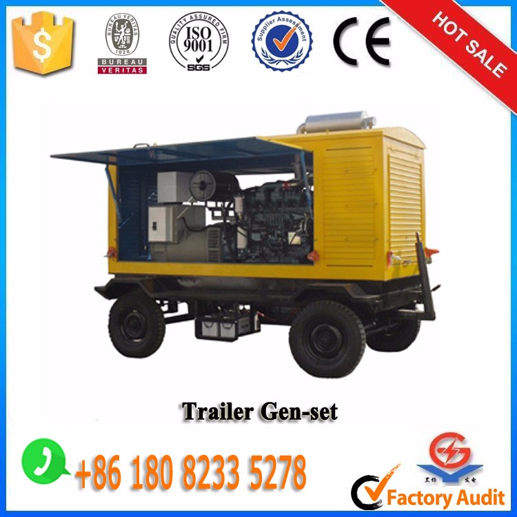 Chinal original Yuchai 200kw mobile type diesel generator sets