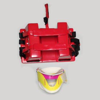 Emergency set with PU foam head block and neck collar for adults or children