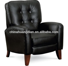 HDL1573 night club black leather lounge chair