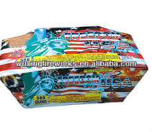 280 shots Freedom USA 500g Cake fireworks