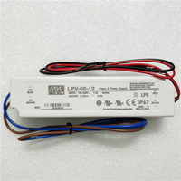 mean well led driver 5a 12v with IP67 waterproof function and UL&CE approved LPV-60-12