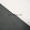 Embossed Faux Leather /Leatherette Grain Suede Sofa Fabric Bonded With Fleece
