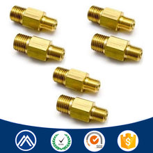 Custom OEM manufacturing precision cnc machining service/double end threaded step brass screw