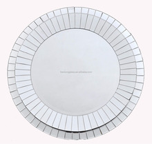 luxury framed shape large round wall mirror