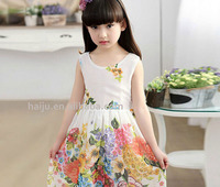 New fashion beautiful children girl 7th birthday party dress