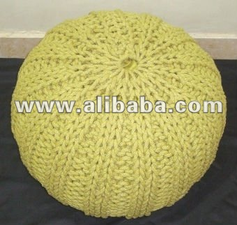 Poufs knitted cotton