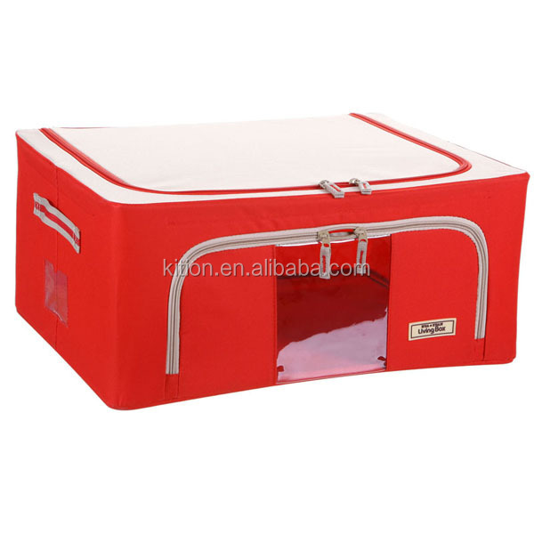 Clothes Folding Storage Box with PVC window Home living box Oem