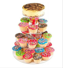High Quality Round Acrylic Cake Display Stand