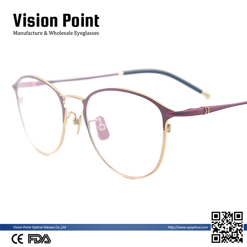 Metal Men & Women Glasses Round Medium Eyeglasses Full Rim Fashion Eyewear