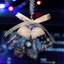 Christmas Crystal Glass Bell for Decoration Personalized car hanging ornament