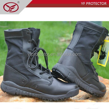 military boots with zipper/lightweight army boots