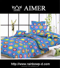Trade Assurance 100%polyester colorful cartoon bed linen fabric for cheap bed sheet/king size comforter