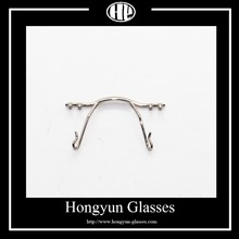 Rimless Stainless steel Plated Optical eyeglasses nose bridge