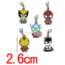 Fashion Anime Key Chain The Avengers Key Chain Spider Man Iron Man Captain America Key Chain Wholesale Fashion Cos New Hot