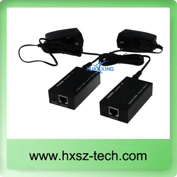 Wholesale RJ45 HDMI Extender Cat5e x1 up to 60M/120M Extender HDMI 1.4v support 3D 1080P