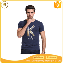 Cheap wholesale fashion 95 cotton 5 spandex man t shirt short sleeves