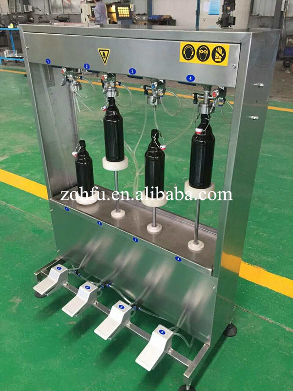 semi-automatic small scale 2 or 4 heads beer filler bottle filling machine