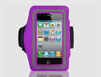 Portable PU leather + Velcro armband case For iphone 5