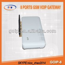 zigbee GoIP Sip Provider 8 Ports VoIP Gateway Free Shipping Worldwide GoIP 8
