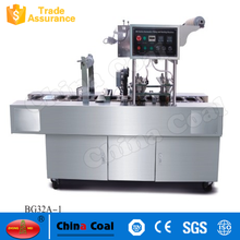 BG32 series hot sale jam ice cream yogurt cup filling sealing machine
