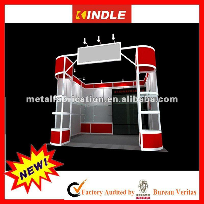 modern trade show exhibition booth with high quality metal stamping technology