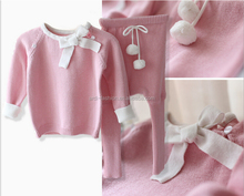 wholesale baby 2 pieces playsuit twinset sweater newborn baby sweaters
