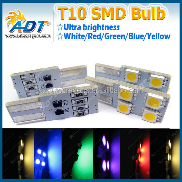 Factory Price T10 194 168 5050 4 SMD LED Side Light Bulb Blink Mod Auto Parts