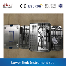 Large Fragment Surgical Instruments Set for lower limb,basic orthopedic instrument set