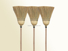 sweeping wood floor straw broom