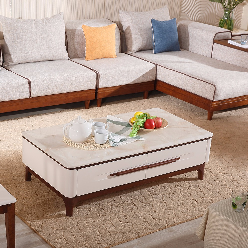 Alibaba pictures of coffee table wood furniture modern glass teapoy