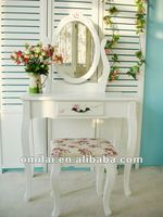 Modern wooden dressing table with mirrors