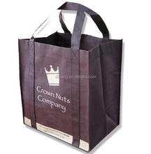 Wholesale custom printed logo 6 bottle wine non woven tote bag