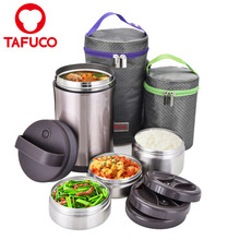 304 Stainless Steel Vacuum Thermos Insulated Lunch Box For Hot Food
