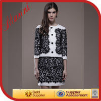 New fashion office ladies suits with skirt