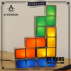 DIY Tetris Puzzle Desk Lamp,Multi Shape LED Constructable Block Table Decorative Stackable Night Light Home Decorative Light