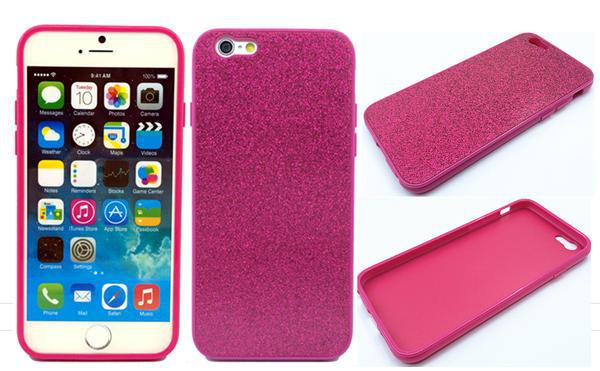 NEW PC Hard Case with leather pasted Glitter design for iphone 6