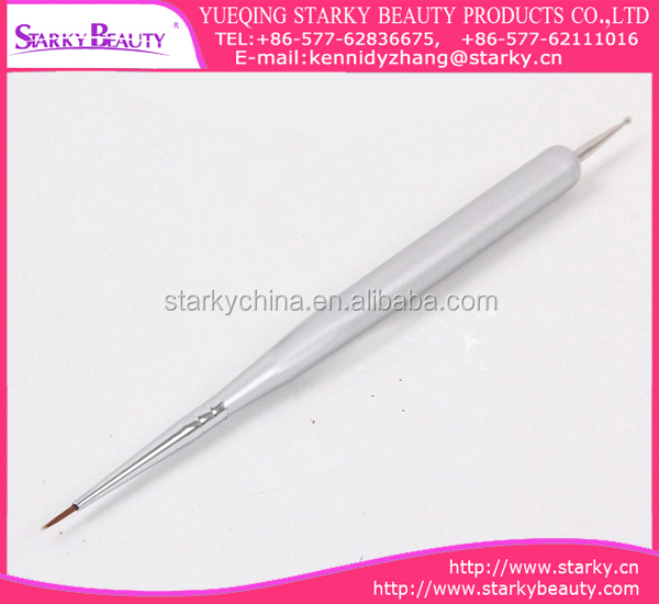 Nails Art Picture Painting Pearl Handle Thin Nail Liner Brush Nylon Hair