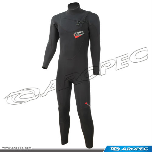 Black Whirlwind 4/3mm Super Stretch Chest Zip Surf Steamer Suit