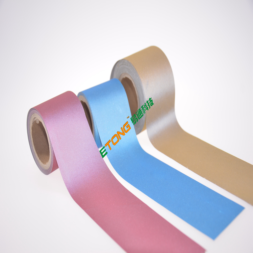 ET-8062 Variety color cotton/poly 5cm reflective tape retro reflective tape for clothing