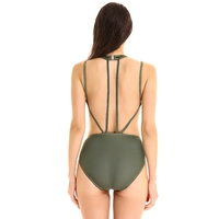 Ladies' Cover Belly Slim Siamese Triangle Sports Swimming Suit