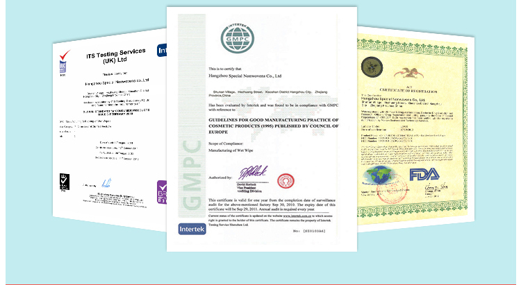 Testing certificated wholesale wet wipes China OEM wet wipe manufacturer