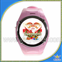 Pink MQ998 Watch Cell Phone for lady