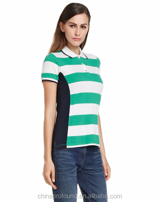 Summer Season Women Ladies Custom Polo Shirt