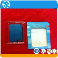 electronic plastic cell phone case folded blister packaging case